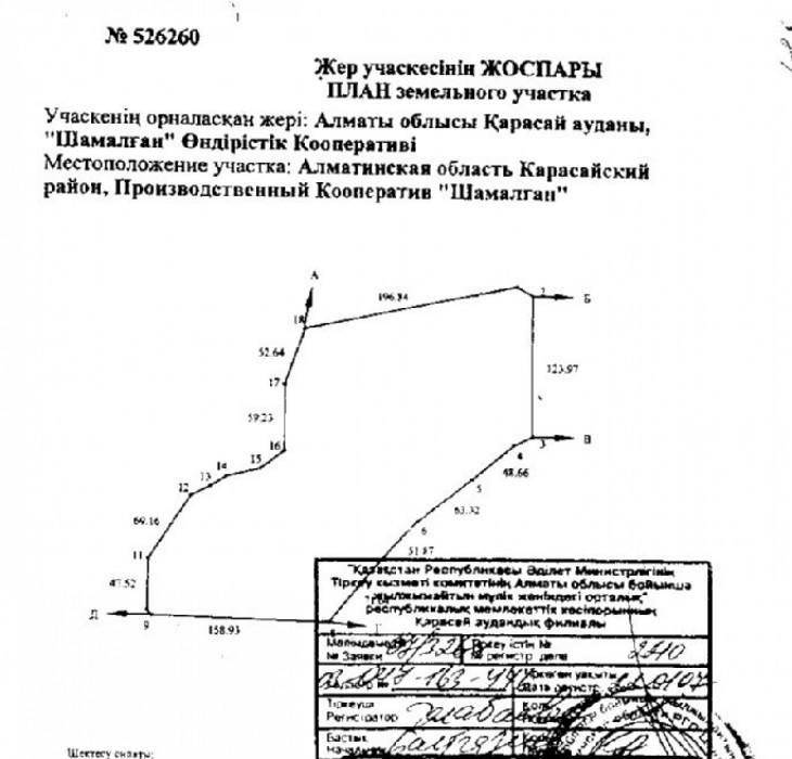 Алматинская обл, р-н Карасай, с. Айтей, АКХ Ленинский, уч. 446